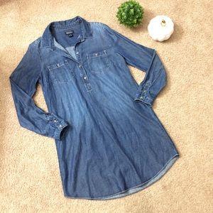 Lucky Brand | Denim Chambray Shirt Dress